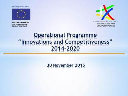  OPIC 2014-2020 is the basic programming document at national level outlining the aid from the European structural and investment funds for the period.