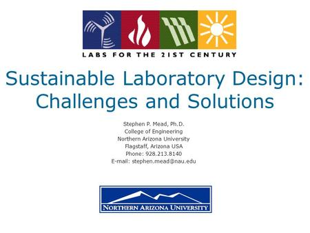 Sustainable Laboratory Design: Challenges and Solutions