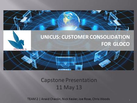 Capstone Presentation 11 May 13 TEAM 2 | Anaid Chacón, Nick Kesler, Joe Rose, Chris Woods 1.