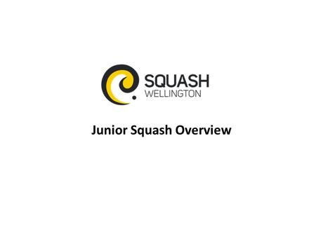 Junior Squash Overview. Objectives 1.Ensure participation framework for all junior players; 2.Identify and monitor club talent; 3.Nurture our exceptional.