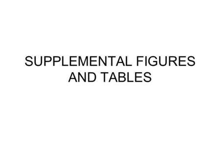 SUPPLEMENTAL FIGURES AND TABLES. Supplementary Table 1: List of new and improved features in GSEA-P version 2 Java software. Examples and screenshots.