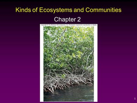 1 Kinds of Ecosystems and Communities Chapter 2. 2 Succession ____________ - A series of regular, predictable changes in community structure over time.