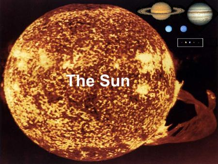 + The Sun. Sun Facts Makes life on our planet possible by giving us great amounts of light and heat Contains about 98% of the mass of the entire Solar.