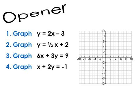 Section 7 – 1 Solving Systems of Equations by Graphing ...