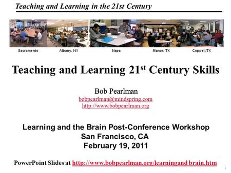 1 108319_Macros Teaching and Learning in the 21st Century Teaching and Learning 21 st Century Skills PowerPoint Slides at