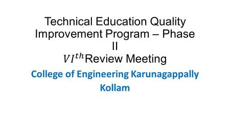 College of Engineering Karunagappally Kollam