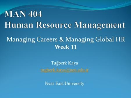 MAN 404 Human Resource Management