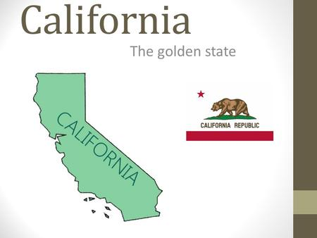 California The golden state. Fun Facts California is the 3 rd largest state The population is 37,679,000 The Golden Gate Bridge is located in California.