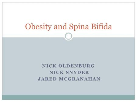 Obesity and Spina Bifida