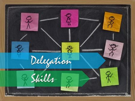 Delegation Skills. Objective Explain What is Delegation Explain Why People Do Not Delegate Describe the Benefits of Delegating List What Tasks Should.