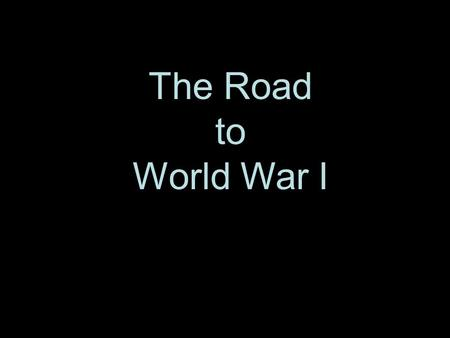The Road to World War I. Colonial Rivalries : Africa in 1914.