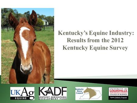  The horse is Kentucky's signature industry  Desire by industry to have good data ◦ Last comprehensive survey conducted in 1977  Reliable data are.