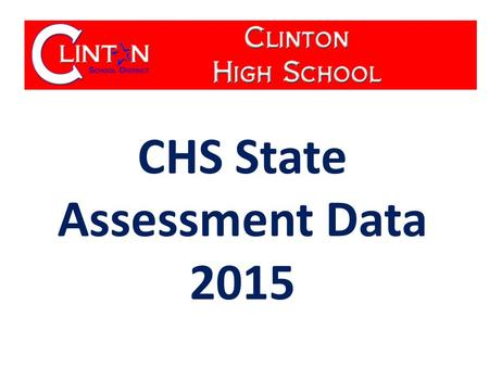 CHS State Assessment Data 2015. % Advanced & Proficient Algebra 1 End of Course Exams % Advanced & Proficient.