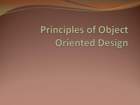 High Cohesion Low Coupling Old Standards for Object Oriented Programming.