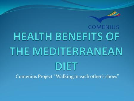 "Comenius Project ""Walking in each other's shoes""."