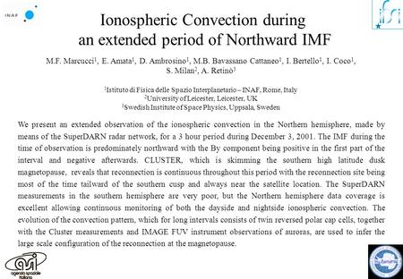 Ionospheric Convection during an extended period of Northward IMF