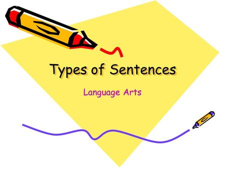 Types of Sentences Language Arts.