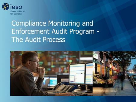 Compliance Monitoring and Enforcement Audit Program - The Audit Process.