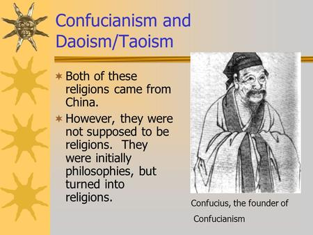 philosophy in china confucianism and taoism Confucianism and taoism were the guiding philosophies for many chinese people for hundreds of years but, how can two philosophies both work when.