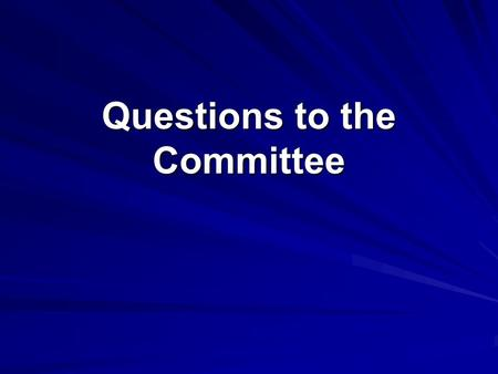 Questions to the Committee. Question 1. The Agency has accepted durable responses in hematologic malignancies for approval for both chronic leukemias.