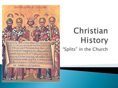 """Splits"" in the Church.  Considered the beginning of the Christian Church.  Disciples became Apostles (those sent forth)  The Holy Spirit descended."
