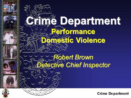 Crime Department Performance Domestic Violence Robert Brown Detective Chief Inspector.