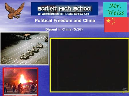 Mr. Weiss Political Freedom and China Dissent in China (5:16)