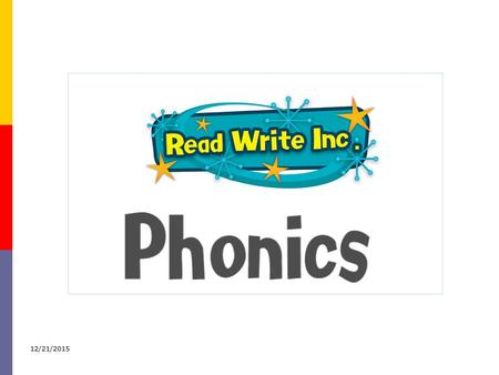 "12/21/2015. Why synthetic phonics? ""Synthetic phonics offers the vast majority of young children the best and most direct route to becoming skilled readers."
