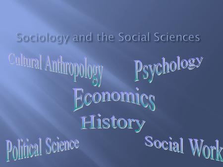  Sociology emerged as a separate discipline in the nineteenth century  This was a time of great social upheaval due largely to the French and Industrial.
