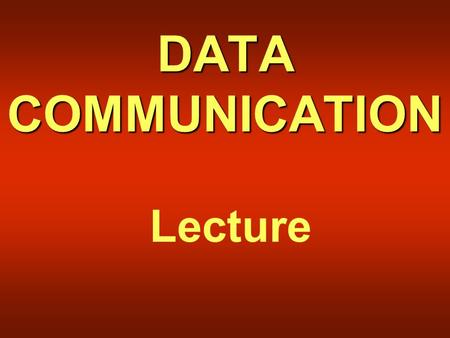 DATA COMMUNICATION Lecture. Overview of Lecture 27  Frequency Ranges  Microwave Communication  Satellite Communication  Cellular Telephony.