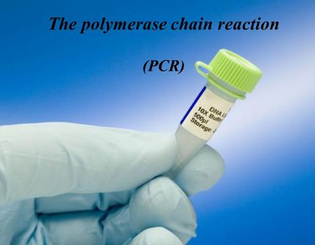 The polymerase chain reaction (PCR). Experiment Goals Understand how PCR technique works. Perform PCR experiment. Analyze PCR products.
