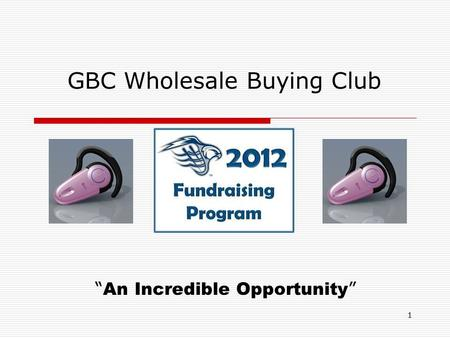 "1 GBC Wholesale Buying Club "" An Incredible Opportunity """