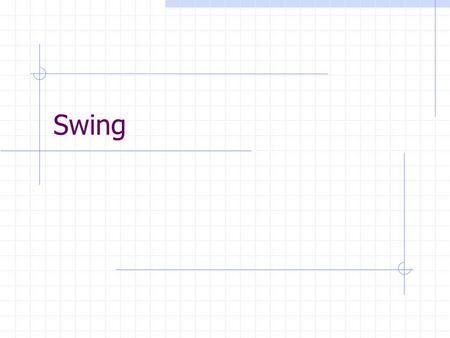"Swing. Introduction to Swing What is Swing? "" Swing is a diverse collection of lightweight components that can be used to build sophisticated user interfaces."""