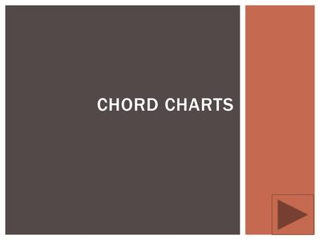 CHORD CHARTS.  The following presentation is designed to help you correctly identify and read a guitar chord chart.  WHY IT MATTERS: Guitar chord charts.