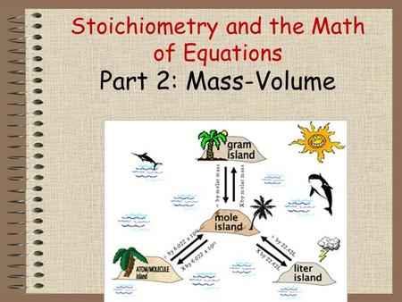 Stoichiometry and the Math of Equations Part 2: Mass-Volume.