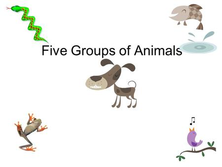 Five Groups of Animals Two Kinds of Things on Earth.