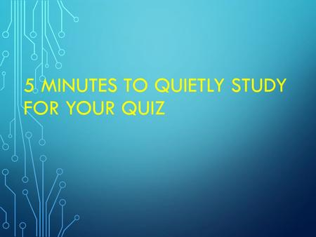 5 MINUTES TO QUIETLY STUDY FOR YOUR QUIZ. BELLRINGER Convert 250 ml to Hl (hecta liters) using dimensional analysis.