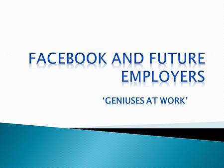  Facebook is a public social network, and employers think they have the right to view the information on Facebook.  One signs the 'fine print' allowing.