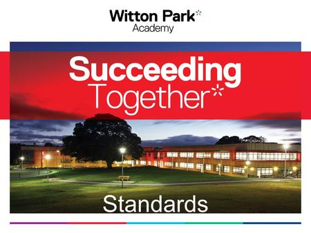 Standards. Vision Succeeding Together To create strong, individual and happy pupils who have a positive learning experience.