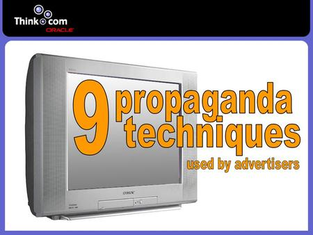 9 propaganda techniques used by advertisers.