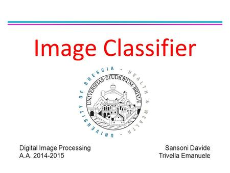 Image Classifier Digital Image Processing A.A