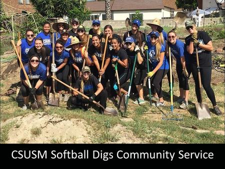 CSUSM Softball Digs Community Service. Topics Goal 1  Graduating Our Student- Athletes NCAA Eligibility Requirements NCAA Progress toward Degree Academic.