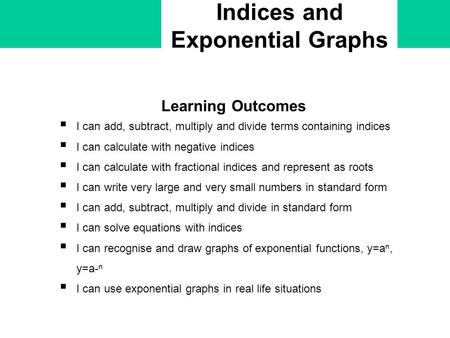 Indices and Exponential Graphs