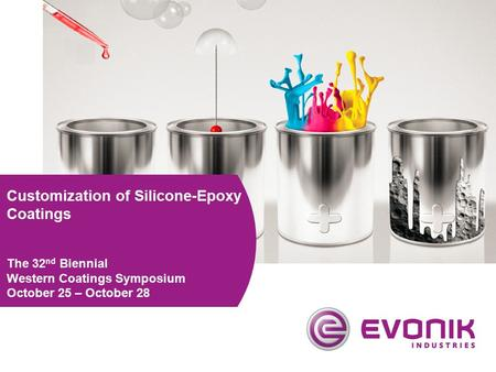 Customization of Silicone-Epoxy Coatings