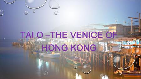 TAI O –THE VENICE OF HONG KONG. The sea near Tai O is also home to Chinese White Dolphins.