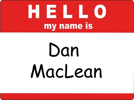 Dan MacLean. Photo by brieuc_s - Creative Commons Attribution License with Haiku.