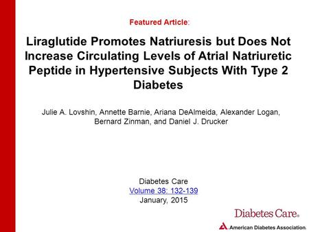 Liraglutide Promotes Natriuresis but Does Not Increase Circulating Levels of Atrial Natriuretic Peptide in Hypertensive Subjects With Type 2 Diabetes Featured.