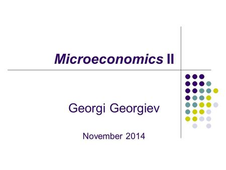 Microeconomics II Georgi Georgiev November 2014. Production, Costs, Revenue and Profit Main topics 1. Production - TP, AP and MP 2. Costs - FC and VC.