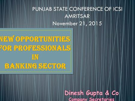 PUNJAB STATE CONFERENCE OF ICSI AMRITSAR November 21, 2015.
