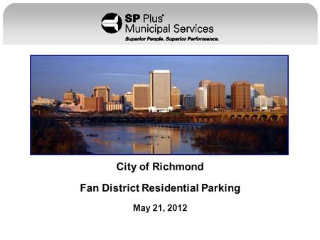 City of Richmond Fan District Residential Parking May 21, 2012.